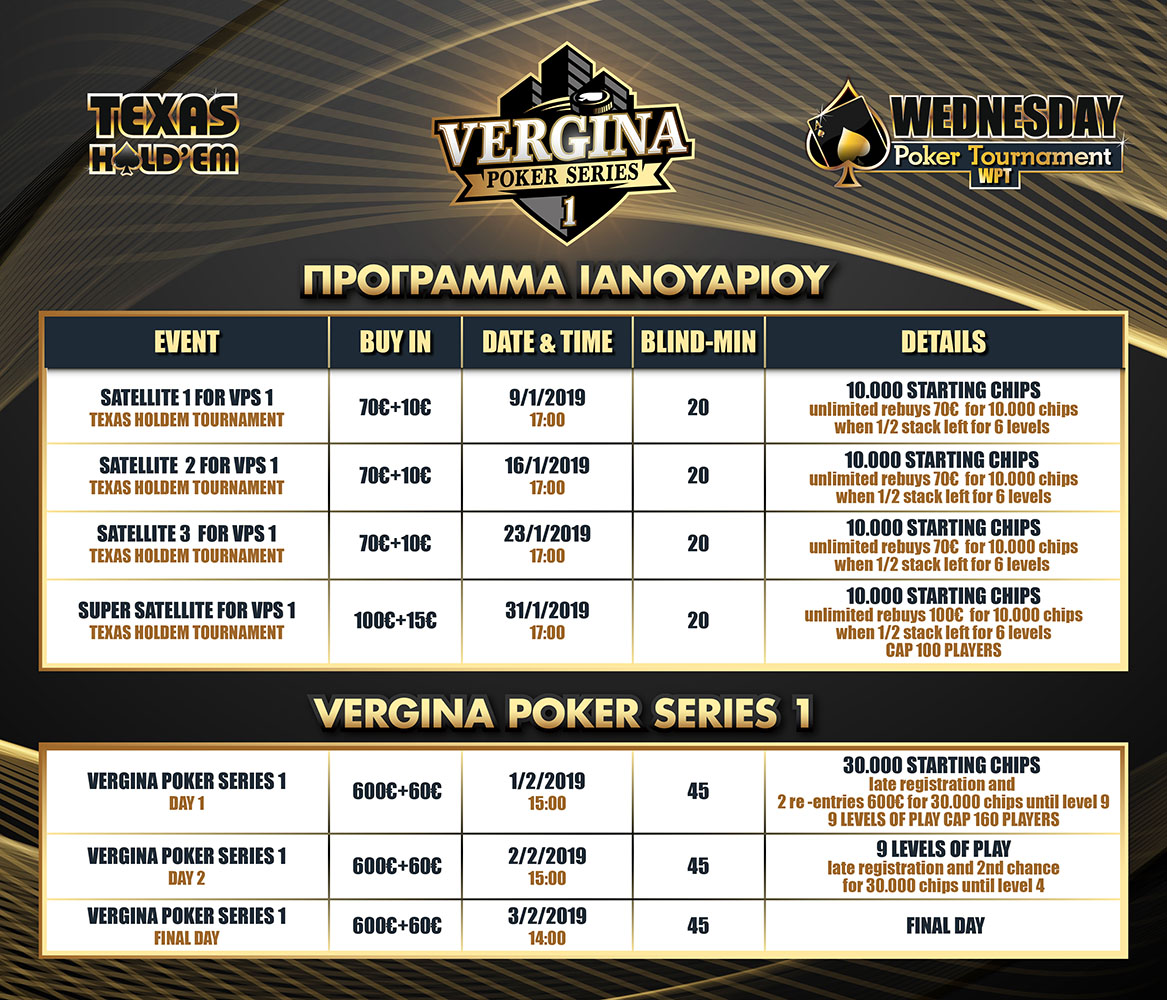 Poker Tournaments Program January