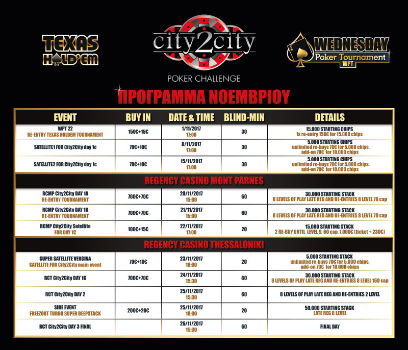 Poker Tournaments Program November