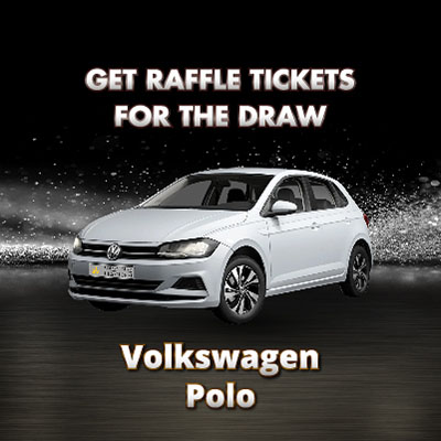 Win A Car Volkswagen Polo Collect Raffle Tickets